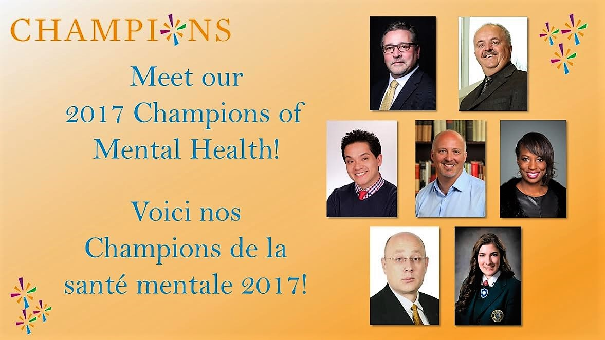 2017 Champions of Mental Health Award Group Photo